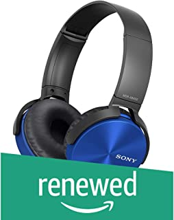 (Renewed) Sony MDR-XB450 On-Ear Extra Bass Headphones (Blue)