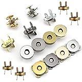 30 Juegos Botónes Magneticos, Cierre Magnetico Bolso, Craft Botones de Costura para Tejer Conjuntos Botones para Costura, Manualidades, Bolsos, Bolsas, Ropa(14mm, 18 mm )