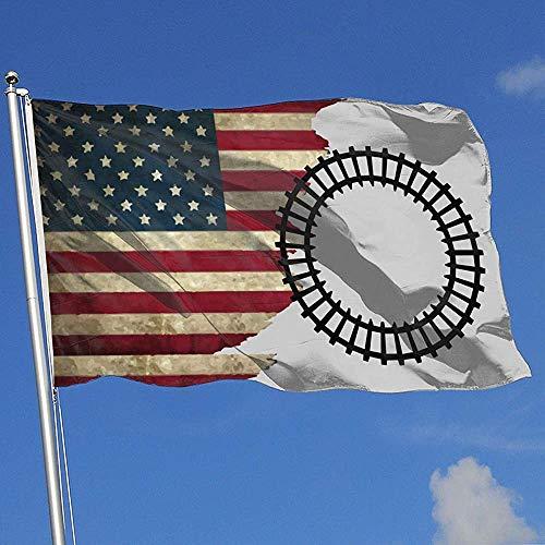 Elaine-Shop Vlag buiten Vlag USA Railroad 4 x 6 Ft Vlag voor binnendecoratie Sport Fan Basketball Baseball Hockey