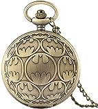 ZHANGYY Reloj de Bolsillo de Cuarzo de Bronce, Collar, Colgante, Relojes Fob Casuales, Reloj para Hombre, Regalos de cumpleaños para niños, Reloj de Bolsillo para niños, Regalos para la FA