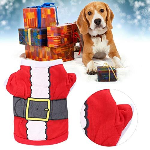 DAUERHAFT Ropa de Festival, Ropa de Moda para Mascotas, Ropa para Mascotas con diseño de Papá Noel y Papá Noel, para lucir más Hermosa, fácil de Limpiar para Perros, Gatos en la estación fría(XS)