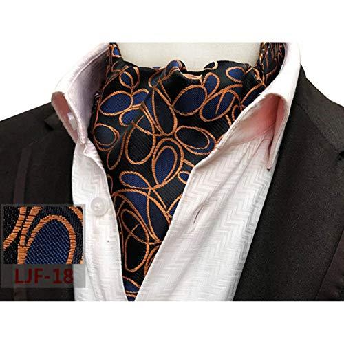ZorYer Krawattenschal Herren Paisley Floral Cravat Ascot Krawatte Gentlemen Ties Hochzeitsfeier S755-B
