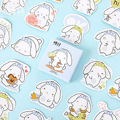 Kawaii Miss Rabbit Daily Decorative Stationery Stickers Scrapbooking DIY Stickers Diary Album Stick Lable