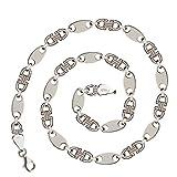925 Silberkette: Plattenkette Silber 10mm 70cm - PLKRH-10-70
