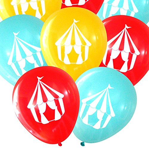 Carnival Circus Tent Latex Balloons (16 Pcs) by Nerdy Words