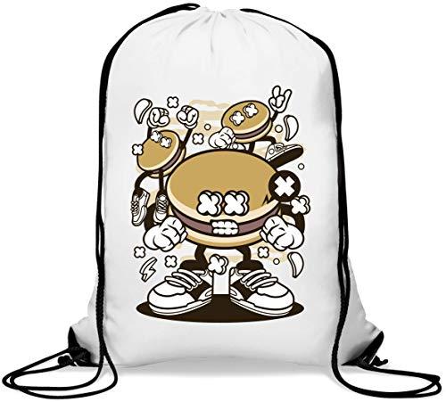 Dorayaki Funny Food Party Cartoon Art Mochila con cordón Informal Gym Sack