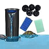 Filtro de tortuga de acuario Filtro de bajo nivel de agua Filtro sumergible de flujo de cascada para tanque de peces de tortuga