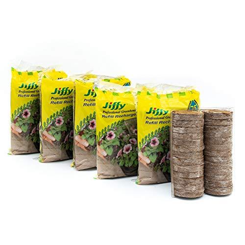 Jiffy Seed Starting Biodegradable 42mm Peat Pellet Refills, 5 Pack