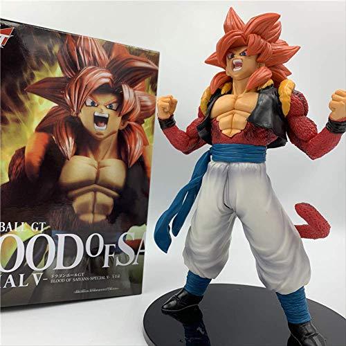 Dragon Ball Z película Gt sangre de Saiyan Gogeta Super Saiyan 4 pelo rojo romper Ver. Pvc figura de acción 20 cm,Dbz Goku Vegeta juguete