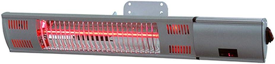 Calefactor por Infrarrojos Radiante,Calentadores y Estufas de Exterior,Termoventilador de Pared de Interior o Exterior,IP55 a Prueba de Agua,Control Remoto