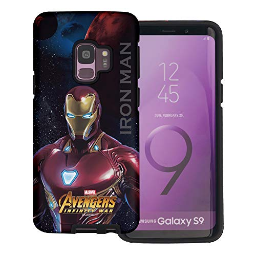 Galaxy S9 Case Avengers Layered Hybrid [TPU + PC] Bumper Cover for [ Galaxy S9 (5.8inch) ] Case - Infinity War Iron Man