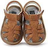 Baby Toddler Girls Boys Sandals Infant Summer Shoes, Soft Anti-Slip Sole Prewalker First Walker Baby Crib Shoes Fishman Sandals for Toddler Girls Boys 0-18Months