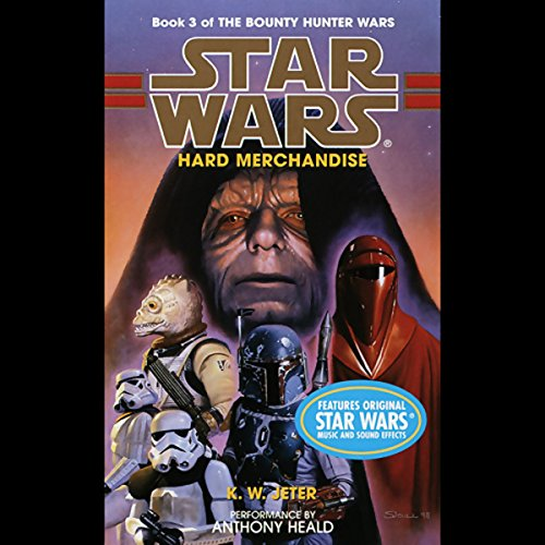 Star Wars     The Bounty Hunter, Book 3: Hard Merchandise              By:                                                                                                                                 K. W. Jeter                               Narrated by:                                                                                                                                 Anthony Heald                      Length: 3 hrs and 2 mins     36 ratings     Overall 4.4