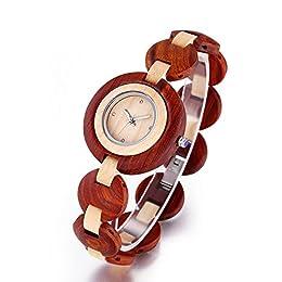 orologi donna da polso 100% nuovo prodotto Realizzato in vero legno. Orologi di natura e lusso Super buon regalo per amici e amanti. Ecologico e ipoallergenico La spedizione è veloce, il prodotto è rapidamente.