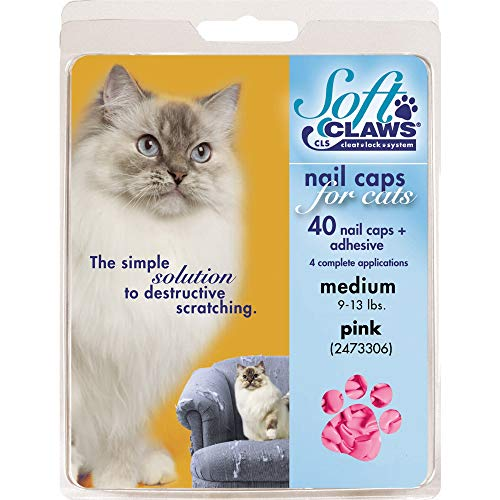 SOFTCLAWS® Krallenschutzes für Katzen -mittelgroß,-Rosa