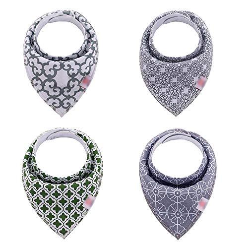 Second Sunny Baby Bandana Dribble Lätzchen mit Druckknöpfen, weiche Baumwolle Kleidung Protektoren Sabbern Lätzchen für Jungen Mädchen (4er-Pack),Style5