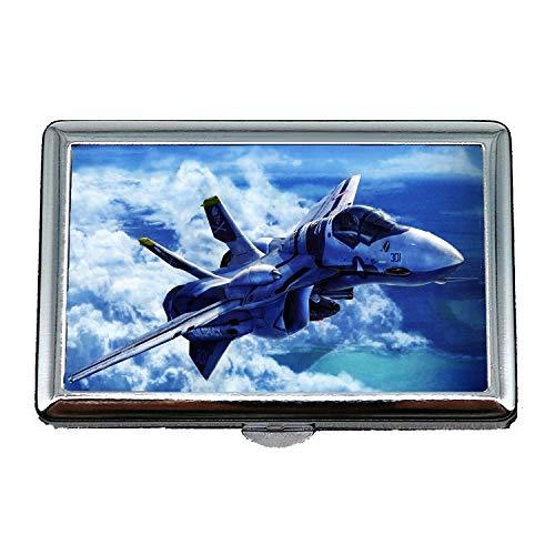 aerei da combattimento, portasigarette, droni da combattimento, porta biglietti da visita in acciaio inossidabile