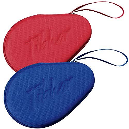 Tibhar Funda para raqueta de ping pong con protección contra roturas, ligera, para 1 a 2 raquetas (azul)