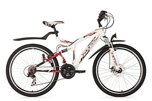 KS Cycling Mountainbike ATB Fully 26\'\' Zodiac weiß RH48cm