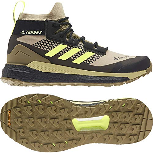 adidas Zapatilla Terrex Free Hiker GTX, Botas de Senderismo Hombre, SAVANN/HIREYE/CBLACK, 38 2/3 EU