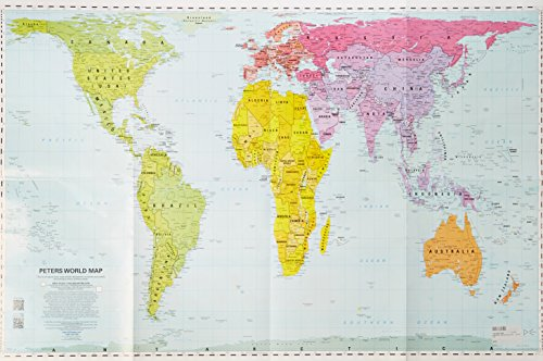 Peters Mid-size Wall Map 24x36 - just the map download ebooks PDF Books