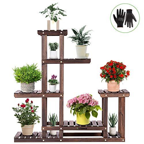 室内外适用,多层木质植物架