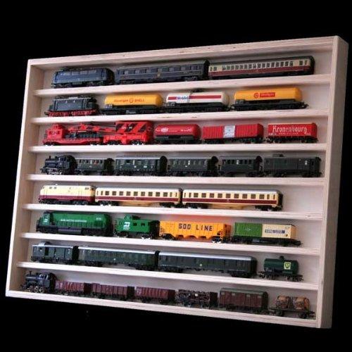 Setzkasten Hängevitrine Regal Vitrine Spur N Modelleisenbahn Werbetruck v-02 / Maße: 90 cm x 58 cm x 6 cm - 8 Ebenen/Plexiglasscheiben von Alsino