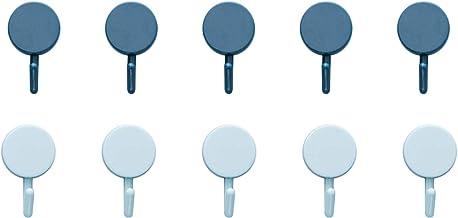 Zelfklevende haken 10-pack, waterdichte zelfklevende muurhanger, handdoekhangers voor keuken, badkamers, kantoor, toilet