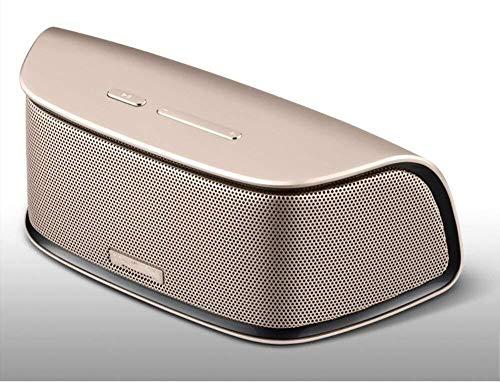 XFSE Bluetooth Lautsprecher Portable Wireless Mini 1200mAH Hohe Kapazität Für Home Travel Beach Perfekt Für Kinder, Party, Schlafzimmer Gold (Color : Gold)