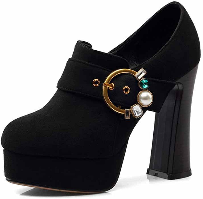 Women Closed Toe Pumps European and American Style Super High Heel Platform Round Head Single shoes Size EU 32-42