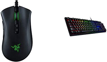 Razer DeathAdder v2 Gaming Mouse - Classic Black & Huntsman Gaming Keyboard - Clicky Optical Switches - Customizable Chrom...