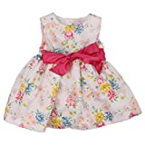 Chaps White Multicolor Floral Theme Spring Dress for Baby Girls - 18 Months
