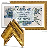 Deco TV Frames - Ornate Gold Frame Custom for Any Size Samsung The Frame TV (6' Corner Sample)