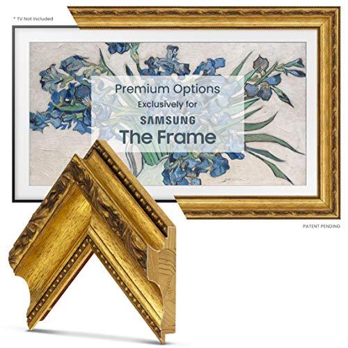 Deco TV Frames - Ornate Gold Smart Frame Compatible ONLY with Samsung The Frame TV (55', Fits 2020 Frame TV)
