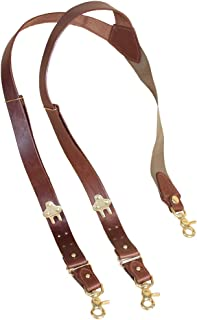 Col. Littleton Genuine Leather No.2 Suspenders with Brass Snaphooks | USA Made