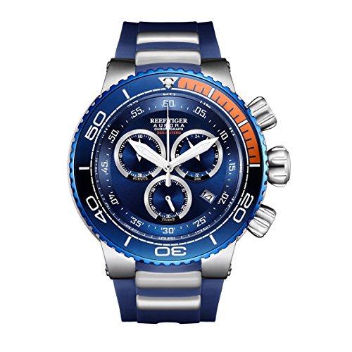 REEF TIGER Herren Uhr analog Quartz mit Kautschuk Armband RGA3168-YLL