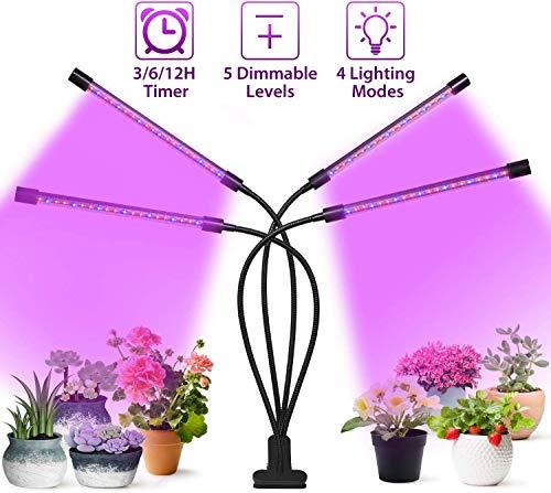 Grow Lights for Indoor Plants,Four Head,Red Blue Spectrum