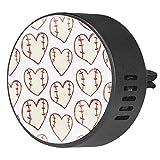 Sport Baseball a forma di cuore 2 pz diffusore di oli essenziali aromaterapia diffusore EVA Locket Air Freshener Vent Clip per auto ufficio casa