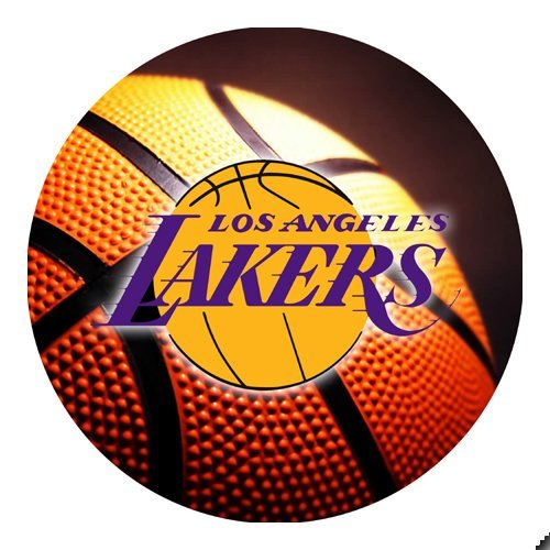 Lakers Basketball Round Mousepad Mouse Pad Great Gift Idea Los Angeles
