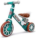 Triciclo 2-en-1 Mini Balance Bike Tricycle Baby First Bike Walker Ride on Toy 3 Wheel Bikes Durante 1 2 3 4 Años Niños Niños Niños Niños Blanco (Color : Green)