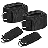 TOBWOLF 4 Pack Fitness Thigh Straps with Ankle Cuffs, Soft Neoprene Padded Fitness Leg Exercise...
