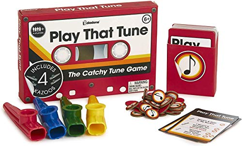 Paladone Kazoo Game Play That Tune Guessing Quiz-Fun Musical Family Dinner Party Card Inc 4, Kazoo Game
