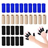 Finger Arthritis Compression Sleeve (30pcs), Breathable Thumb Support Brace Splint Arthritis Sleeves for Finger Joint Pain Relief, Comfortable Finger Protector for Triggger Finger Sports Aid Support
