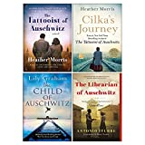 Cilka's Journey, The Tattooist of Auschwitz, The Librarian of Auschwitz, The Child of Auschwitz 4 Books Collection Set