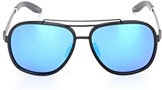 Fashion Color Film Sunglasses Gray Blue Fashion Ladies Sunglasses Retro (Color : Blue)