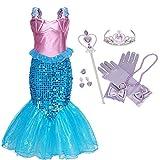 IWFREE Déguisement Filles La Petite Sirène Robe Princesse Ariel Costume Les Enfants...
