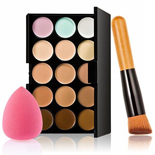 15 Couleurs Correcteur Crème de Camouflage Palette de Maquillage Poudre - # 3