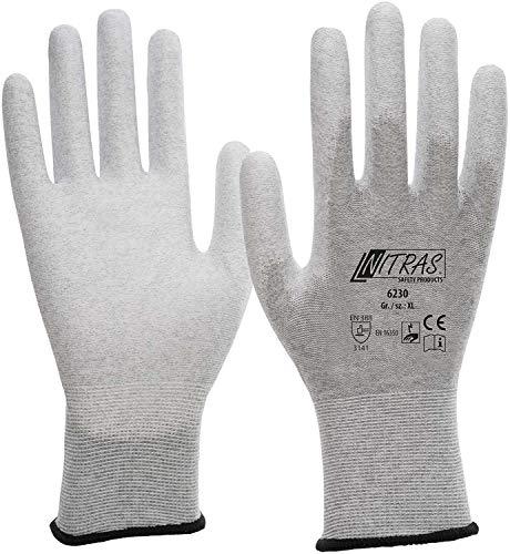 Nitras 6230 ESD-Handschuhe - antistatisch und Touchscreen-fähig, Größe:Größe 8/L