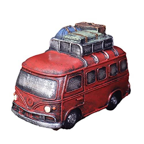 Hucha Retro de la resina de la resina de la resina de la resina del cumpleaños del cumpleaños, niño y niña o regalo del día de los niños, juguete de juguete, banco de monedas Contando dinero tarro