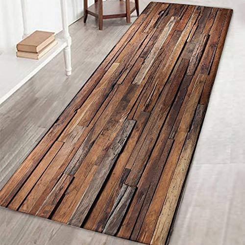 Arbres colorés vieillissant Vintage en bois impression 3D antidérapant microfibre lavable long tapis de sol tapis de couloir tapis